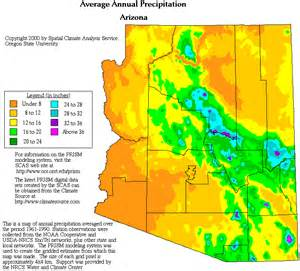 weather arizona map arizona precipitation map