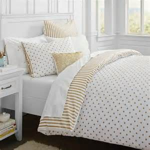 Pbteen Duvet Bedding White Bedding And Gold On Pinterest
