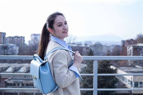Zarra Backpack Confortible A Grown Up With This Baby Blue Zara
