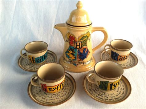Harry S Detox Tea by Harry Potter Hogwarts Crest Tea Set J K Rowling Quote With