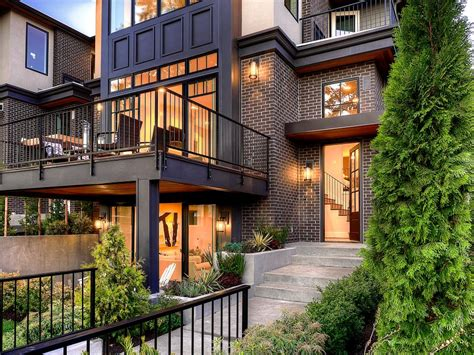 contemporary brownstone  brick  iron exterior