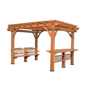 Leisure Time Products Pergola by Backyard Discovery Oasis 12 Ft X 10 Ft Pergola Browns
