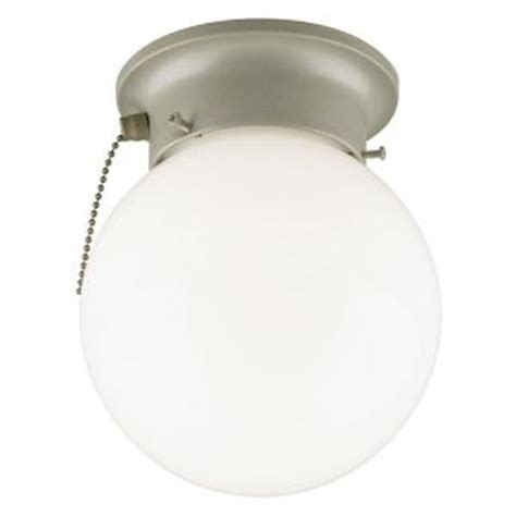 Flush Mount Ceiling Light With Pull Chain Westinghouse 67204 1 Light Platinum Ceiling Flush Mount Light Fixture Elightbulbs