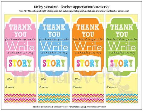 printable bookmarks thank you teacher appreciation diy tags