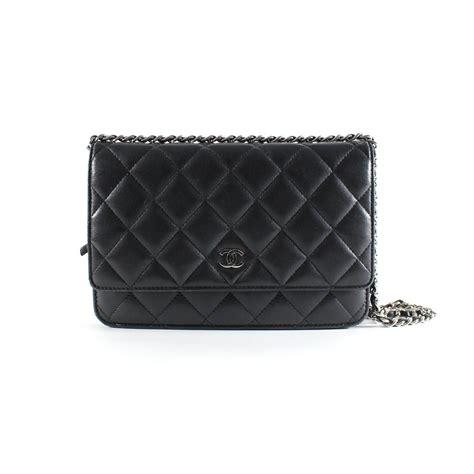 Chanel Woc Lambskin Box Jo 57 chanel clutch bags clutch bags leather black ref 5308