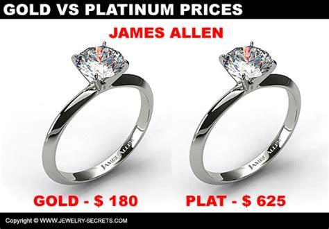 compare gold vs platinum prices jewelry secrets