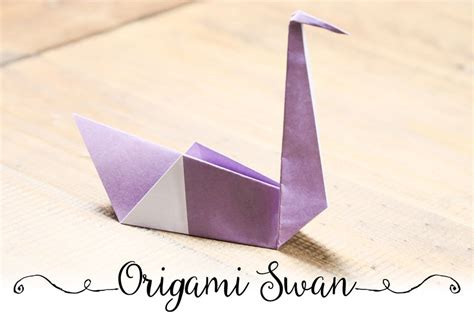 Simple Origami Swan - easy origami swan tutorial