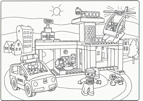Lego City Coloring Pages Print | lego city printable coloring pages coloring home