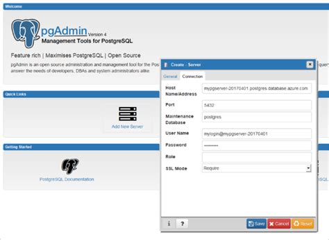 Postgresql Create Database Template create an azure database for postgresql using the azure