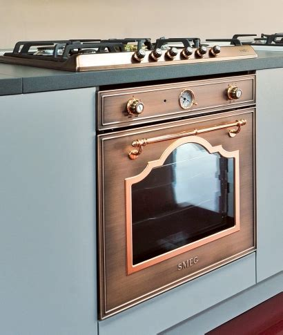 copper kitchen appliances smeg introduces the sr775ra antique copper hob smeg