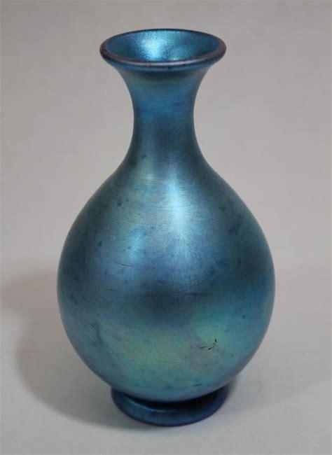 Steuben Vases by Small 6 Quot Antique Steuben Blue Aurene American Glass