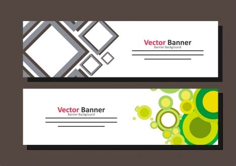 banner design vector template banner template design colorful geometric design vectors