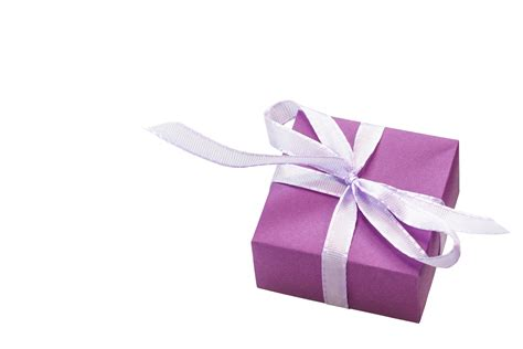 gift box purple ribbon free stock photo public domain