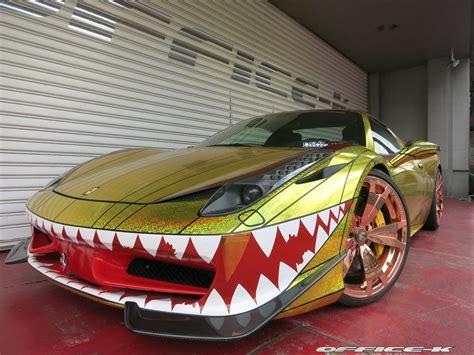 golden ferrari ferrari 458 quot golden shark quot by office k is tokyo s most