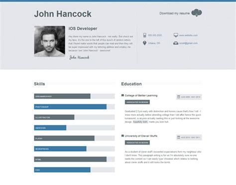 Best Resume Websites by 20 Top Cv Website Template Designs For You