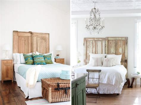 using an old door as a headboard dishing up design hhh homemade headboard hunt
