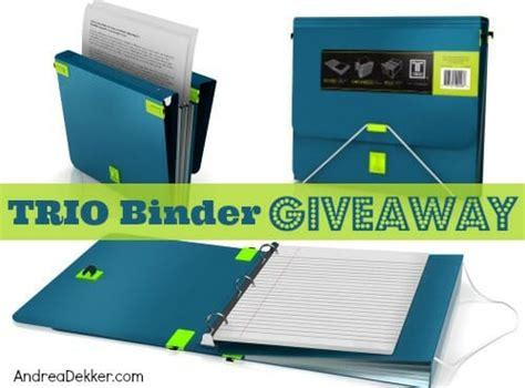 Binder Giveaway - trio binder giveaway andrea dekker