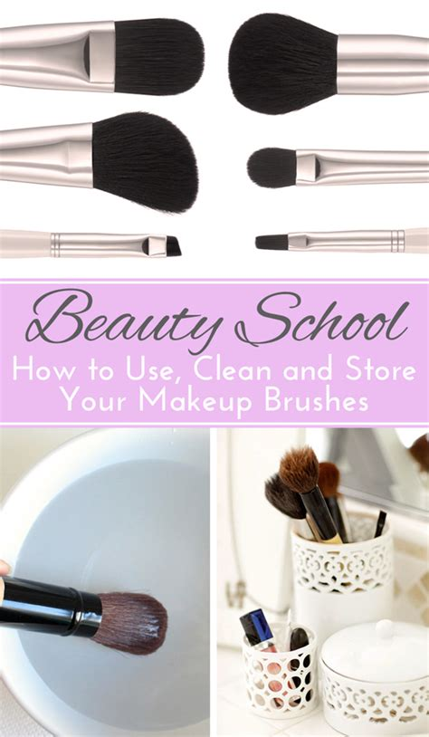 How To Wash Makeup Brushes At Home by School How To Use Store And Clean Makeup Brushes