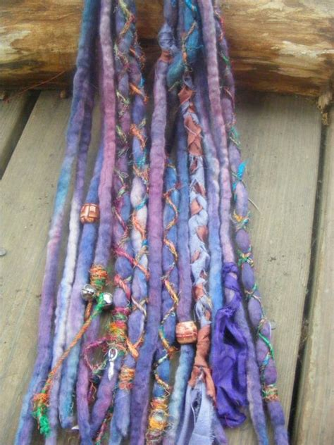 dreadlock wrapped around extensions for sale 6 de hand dyed wool dreads dreadlock extensions with