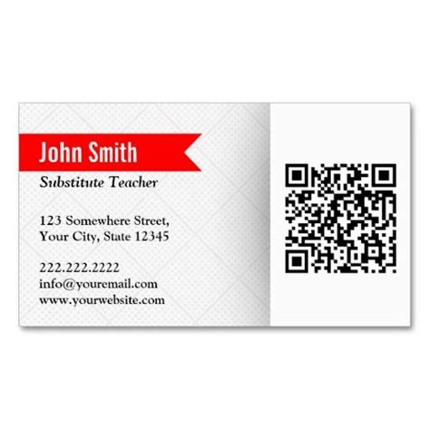 substitute business card template 17 best images about qr code business card templates on