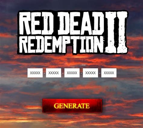 Redemption Key dead redemption 2 serial key generator pc xbox one ps4