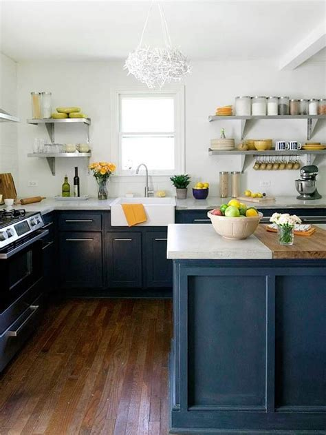 Navy Blue Kitchen by Remodelaholic Best Colors For Your Home Navy Blue