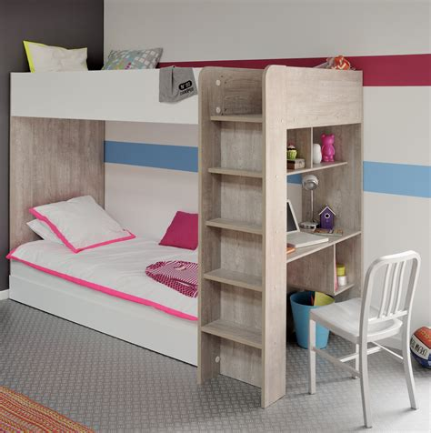 bunk bed desk combo wood kids bunk beds with desk mommo design loft beds image of