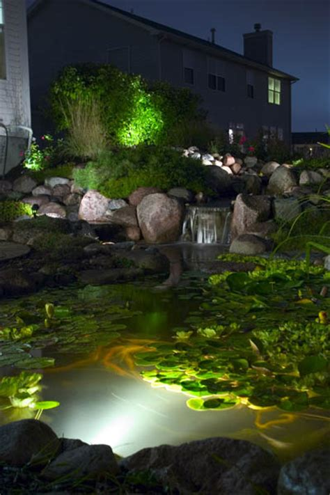 Aquascape Pond Lights by Pond Water Garden Lighting Create Magic At Aquascape