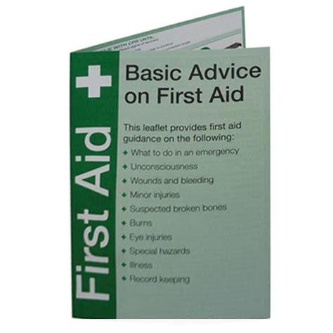First Aid Guidance Card Green Green (Each)