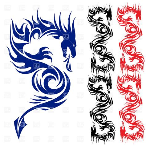 pattern dragon tattoo asian dragon tattoo pattern royalty free vector clip art