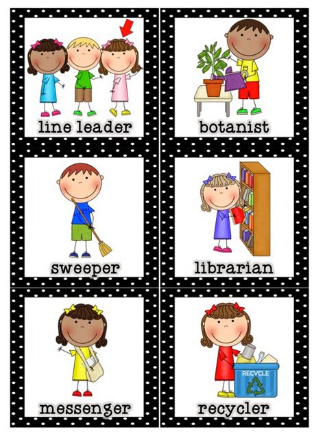 printable classroom job templates mrs lirette s learning detectives classroom helpers set