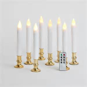 lights com lit decor flameless candles taper candles