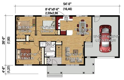 home design 6 x 20 country style house plan 3 beds 1 00 baths 992 sq ft
