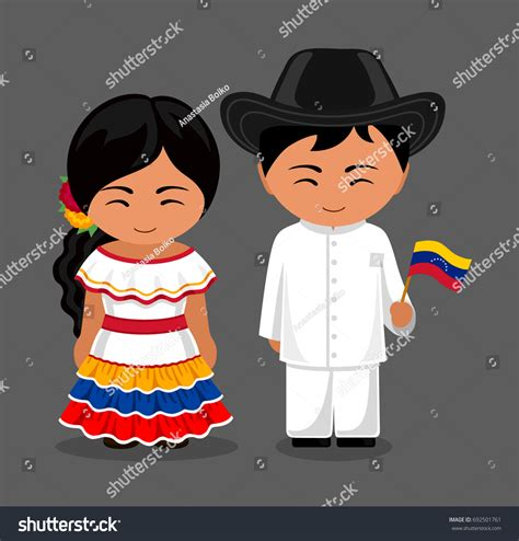 what clothes do venezuelans wear on christmas venezuelans national dress flag stock vector 692501761