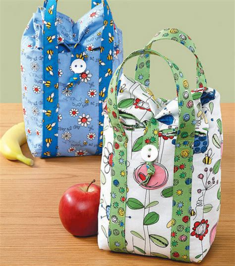 pattern for fabric lunch bag cute enough to eat lunch bags joann jo ann