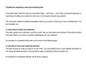 sle marketing plan template sales plan template 22 free word excel pdf