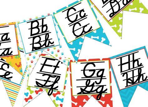printable cursive alphabet banner 17 best images about rentr 233 e on pinterest farmhouse chic