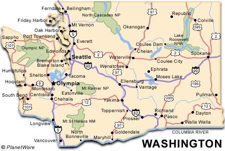 Map Of Washington State Cities And Towns by Washington State Map Us