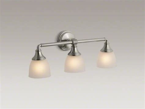 kohler bathroom lighting kohler devonshire r triple wall sconce contemporary
