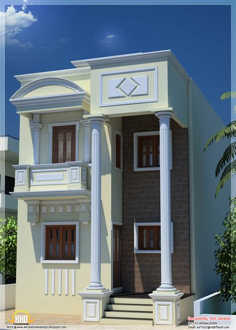 50 yard home design 1600 sq ft narrow house design in india kerala home