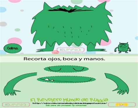 imagenes verdes para recortar juego caritas emocionales del monstruo de colores mundo