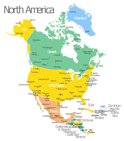 map of canada us and cuba america map with capitals template