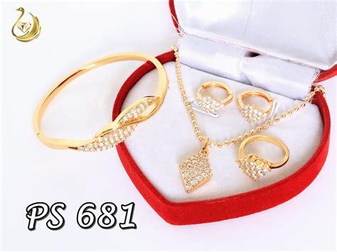 Set Xuping Simpel Terbaru Perhiasan Lapis Emas xuping pusat perhiasan set