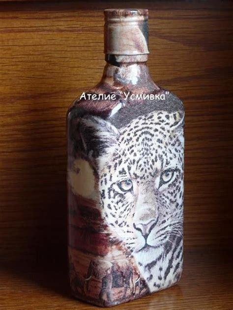 Unique Decoupage Ideas - unique bottle decorated with decoupage craft ideas