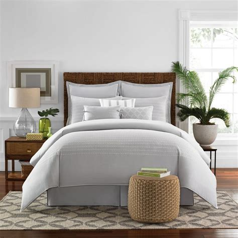 bed bath beyond real simple boden comforter set in grey