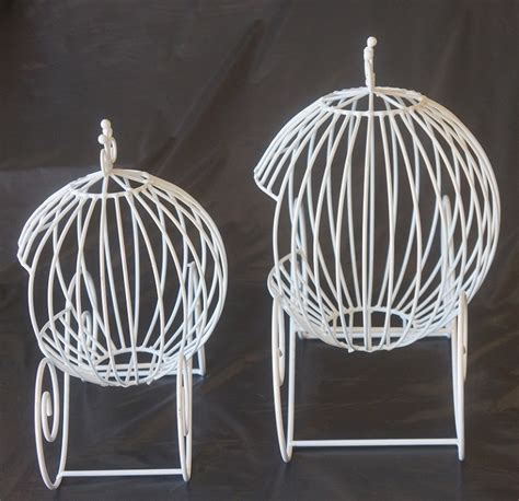 cinderella white ball carriage made of sturdy wire is a