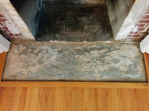 tile   How To Level Uneven Fireplace Hearth Concrete