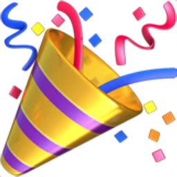 celebration emoji popper emoji u 1f389