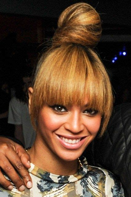 topknot hair on indian beyonce high top knot full fringe 2013 s s hair trends