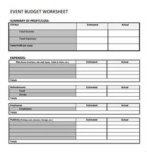 event budget template 9 free samples examples format